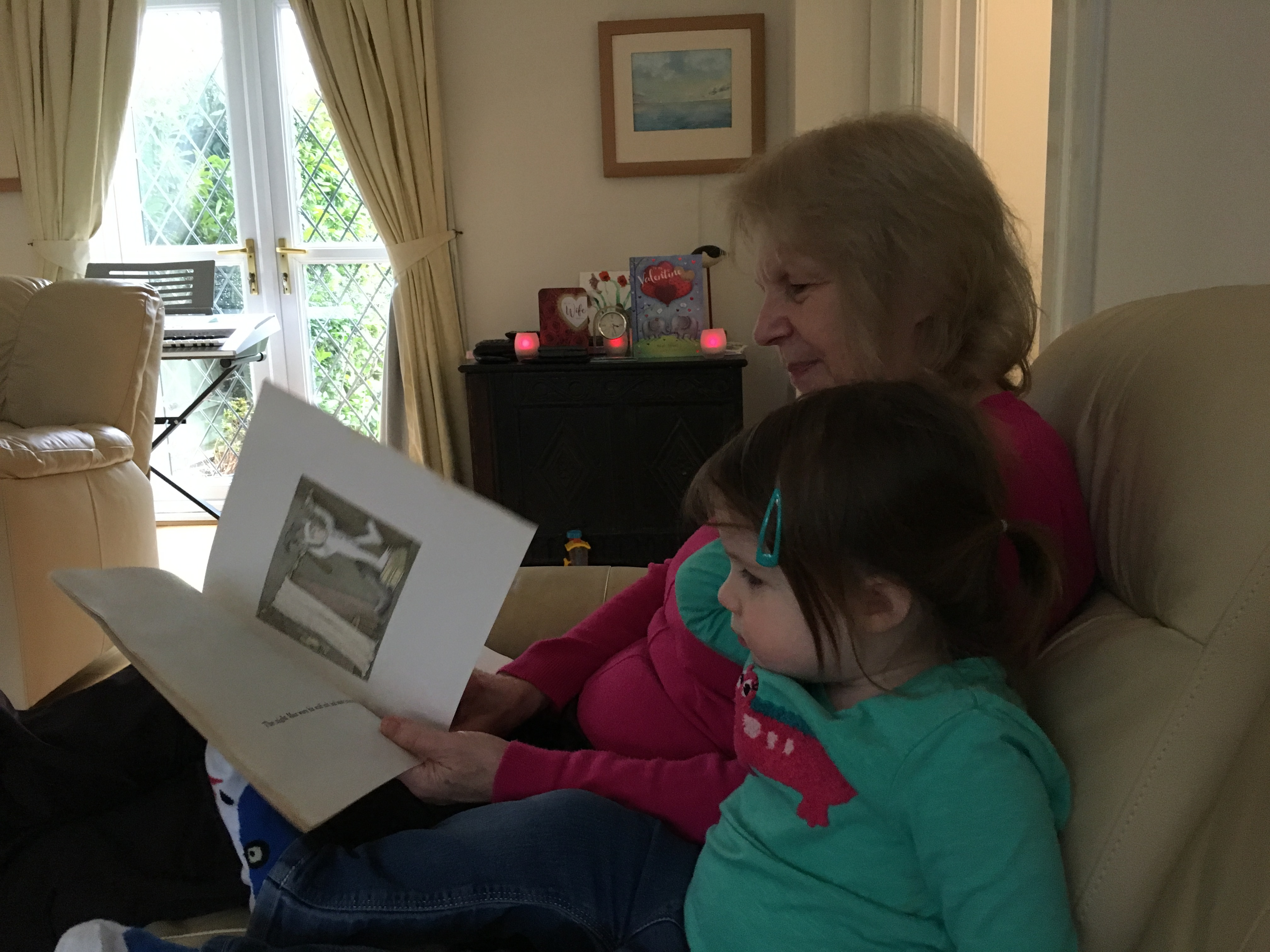 Mrs Nunn reads to YoungestGirl