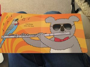 koala and budgie in Animal Music book