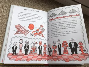 Pages from Cat and the King Nick Sharratt